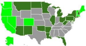 legal pot states map