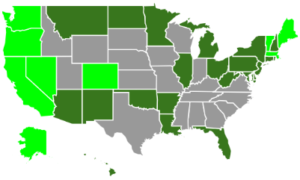 legal pot states map