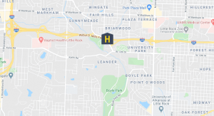 Little Rock Marijuana Dispensary map